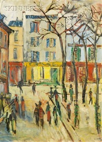 paris - montmartre place du tertre by louis cazals