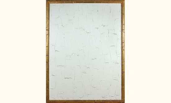 peinture blanche et dorée no3 by bertrand lavier