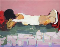 jeune fille dormant by emmanuel urbain huchet
