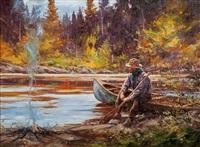 autumn campfire by john swan