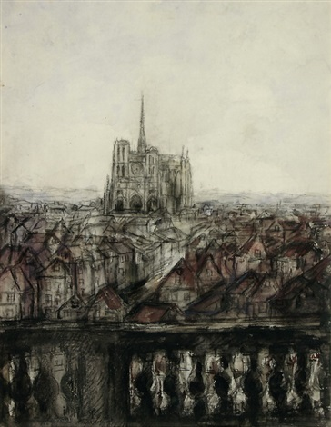 blick auf notre dame by pierre laprade