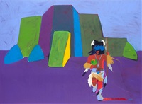 buffalo dancer visits rancho de taos by john nieto