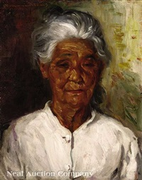 portrait of a mexican woman by wayman adams