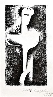 frontispiece of book s. k. neumann: goddess, saint, woman by josef capek