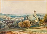 blick auf heiligenstadt bei wien by moritz leybold