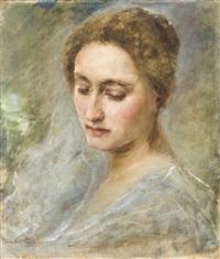 leányportré by otto baditz