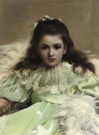anne as alice in wonderland by thomas benjamin kennington