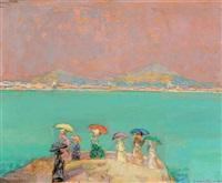 femmes aux ombrelles by cricor garabetian