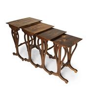 inlaid tables by émile gallé