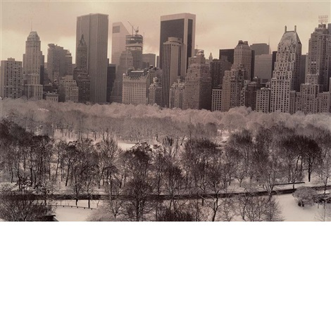 white feathery trees nyc by ruth orkin