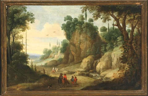 travelers on a path by paul bril