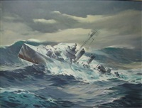 battleship in high seas by tore asplund