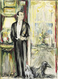 portrait of duarte pinto coelho in his drawing room at 8 don pedro street, madrid by pedro leitao