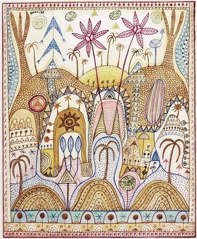 orientalische landschaft ohne titel 1985 smaller 2 works by kurt joseph haas