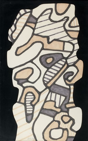 monument v, 4 avril by jean dubuffet