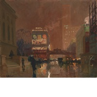 new york public library by charles hoffbauer