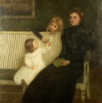 enfants et leur mère (children with their mother) by eugene lawrence vail