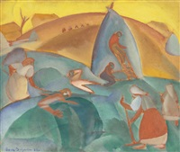 harvest, rasseia by boris dmitrievich grigoriev