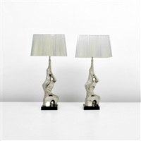 brutalist lamps (pair) by laurel lamp (co.)