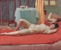 横卧的女人体 by rao xiangping