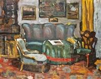 szobabelső (a művész lakása) by béla endre