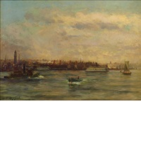 new york harbor by charles p. appel