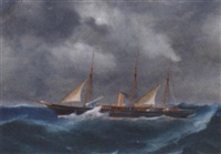 the schooner-rigged steam yacht