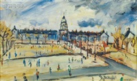 paris - place des invalides by louis cazals