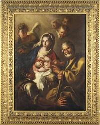 sacra famiglia con la vergine che allatta il bambino by italian school-genoa (18)