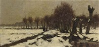 a snow covered landscape by pieter de regt