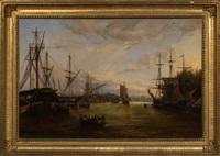 the peaceful harbor by emile louis vernier