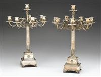 seven light candelabra (pair) by nardi