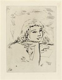vollard, ambroise; la vie de sainte monique. band mit zahlreichen holzschnittvignetten nach zeichnungen von bonnard, 3 blatt by pierre bonnard