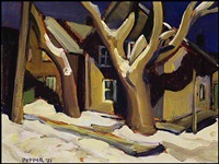 ottawa winter street scene by george douglas pepper