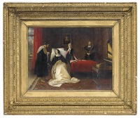 katherine of aragon in her bed chamber at kimbolton castle by charles robert leslie