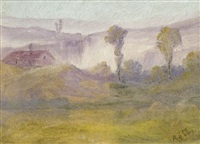 paysage aux deux arbres by alfred roll