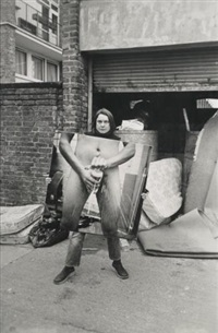 got a salmon on in the street #2 by sarah lucas