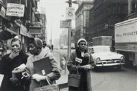 new york, uscita dagli uffici by nicola sansone