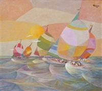 sailboats by romeo v. tabuena