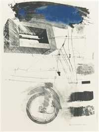test stone #6 (from booster and seven studies) by robert rauschenberg