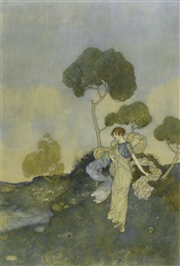 thy turfy mountains, where live nibbling sheep by edmund dulac