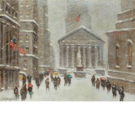 broad street on a winters day by guy carleton wiggins