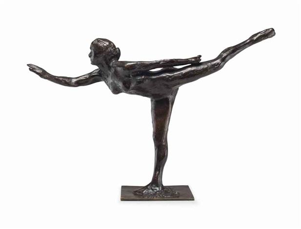 arabesque sur la jambe droite le bras gauche dans la ligne by edgar degas
