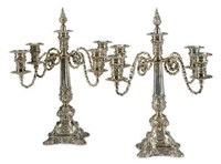 candelabras (pair) by meriden brittania (co.)