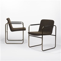 armchairs from northwestern university library, chicago (pair) by robert kleinschmidt