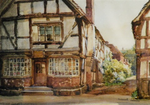a view in ombersley worcestershire by frank moss bennett