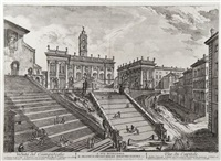 veduta del campidoglio (+ 5 others; 6 works) by jean barbault