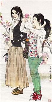 摄影女孩(两人) by sang jianguo