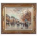 parisian street scene by antoine blanchard