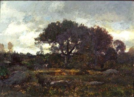 barbizon landscape by lászló paál